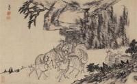群鹿图 立轴 纸本 - 116405 - 开元——中国古代书画珍品夜场 - 首届艺术品拍卖会 -收藏网