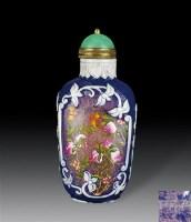 套料画珐琅福寿纹鼻烟壶 -  - 瓷器、玉器、杂项 - 2012年台湾艺术品专场拍卖会 -收藏网