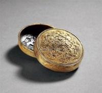 铜鎏金花卉纹香盒 -  - 瓷玉工艺品专场 - 2011夏季艺术品拍卖会 -收藏网