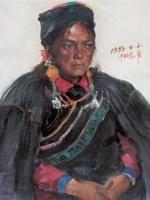高小华 1983年作 女肖像 布面 油画 - 4665 - 中国当代油画 - 2006首届中国国际艺术品投资与收藏博览会暨专场拍卖会 -收藏网