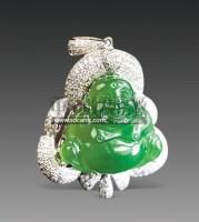 翡翠弥勒(小佛)挂件 -  - 古董珍玩 - 2011春季艺术品拍卖会 -收藏网