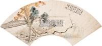春睡江岸 扇面 设色笺本 - 124082 - 中国书画 - 2008春季艺术品拍卖会 -收藏网