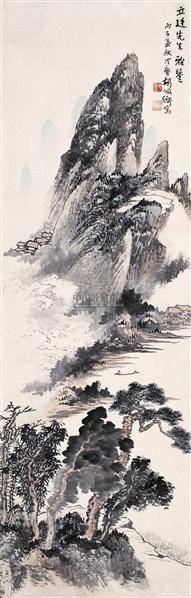 山水 立轴 设色纸本 - 116692 - 中国书画(二) - 2006年秋季艺术品拍卖会 -收藏网
