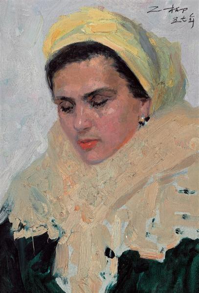 罗工柳 夫人像 油画 - 2434 - 油画专场 - 2006首届艺术品拍卖会 -收藏网