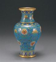 民国 铜胎掐丝珐琅花瓶 -  - 瓷器、工艺品及鼻烟壶 - 2006秋季艺术品拍卖会 -收藏网