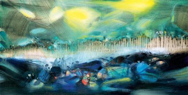 朱德群 结构蓝与黄 - 119074 - 中国当代艺术(一) - 2007春季拍卖会 -收藏网