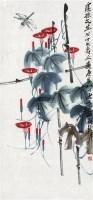 蜻蜓牵牛花 立轴 纸本 - 齐白石 - 中国近现代书画 - 首届艺术品拍卖会 -收藏网