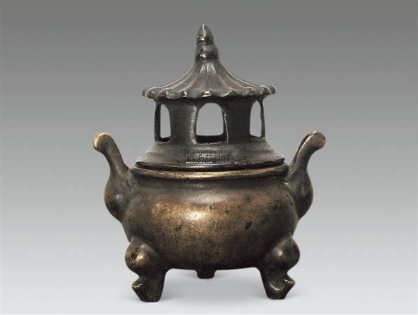 铜三足塔式香薰 -  - 古董珍玩 - 2012迎春艺术品拍卖会 -收藏网