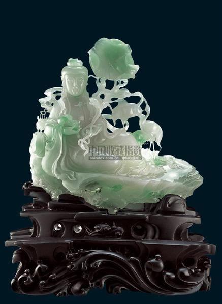 翡翠西方极乐赏件 - - 中国当代玉雕大师张伟良翡翠精品 - 2006年秋