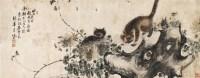 猫 横幅 设色纸本 - 122059 - 中国书画(一) - 2011年金秋精品书画拍卖会 -收藏网