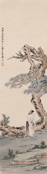 金城 人物 立轴 设色绢本 - 20538 - 中国书画(二) - 2006畅月(55期)拍卖会 -收藏网