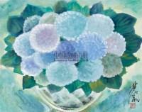 瓶花 镜心 设色纸本 - 116036 - 小品专场 - 首届艺术品拍卖会 -收藏网
