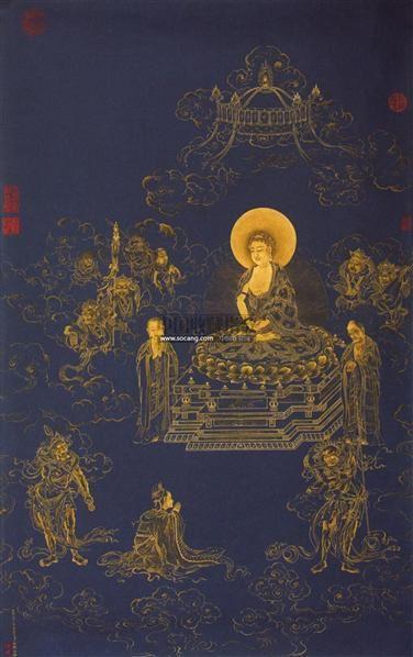 佛像 镜心 纸本 - 5232 - 中国书画 - 2011中国艺术品拍卖会 -收藏网