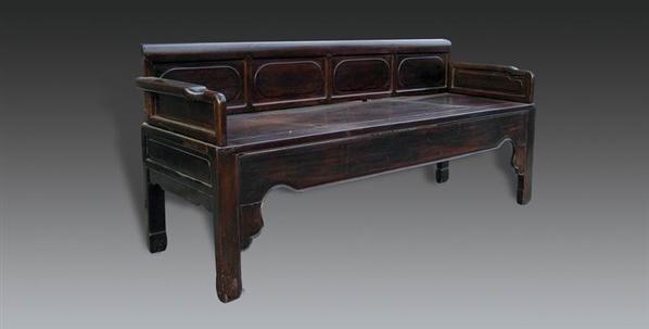 红木四块板三人椅 - - 明清古典家具专场 - 明清古典家具专场拍卖会