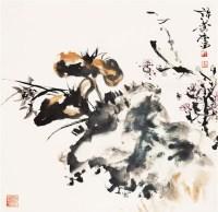 三友图 镜心 设色纸本 - 17529 - 中国书画三 - 2011首届大型书画精品拍卖会 -收藏网