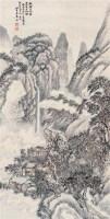 山水 立轴 设色纸本 - 姜筠 - 中国书画 - 2006艺术品拍卖会 -收藏网
