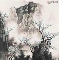 烟雨漓江 立轴 设色纸本 - 133930 - 中国书画(二) - 2006年秋季拍卖会 -收藏网