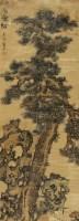 乔松图 立轴 设色纸本 - 蓝瑛 - 落纸烟云 醉墨飘香—中国书画精品专场 - 2011年春季艺术品拍卖会 -收藏网