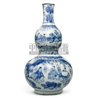 A BLUE AND WHITE DOUBLE-GOURD VASE -  - 中国瓷器工艺品 - 2011春季拍卖会 -收藏网