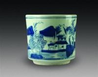 青花山水纹炉 -  - 中国瓷杂 - 2010迎春艺术品拍卖会 -中国收藏网