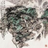 山水人物 带框 设色纸本 - 67957 - 中国书画专场 - 2008第三季艺术品拍卖会 -收藏网