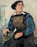 女积极分子 水粉 - 132503 - 油画 版画 - 2006秋季艺术品拍卖会 -收藏网