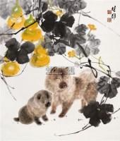 双狗 立轴 纸本 - 117202 - 中国书画 - 2011年春季拍卖会 -收藏网