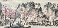 蜀山之春 镜心 设色纸本 - 119233 - 中国书画(一) - 2012迎春拍卖会 -收藏网