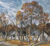 秋日村民 纸板油彩 - 22533 - 中国油画(二) - 2006年中国艺术品春季拍卖会 -收藏网