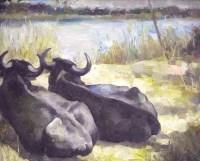徐悲鸿双牛图 -  - 书画 - 2008迎春书画艺术精品拍卖会 -收藏网