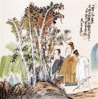人物 立轴 设色纸本 - 117435 - 中国书画专场 - 迎新春书画精品拍卖会 -中国收藏网