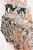 岩畔 立轴 设色纸本 - 4879 - 中国书画(一) - 2011春季艺术品拍卖会 -收藏网