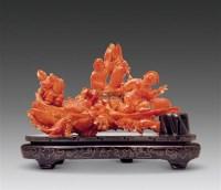 珊瑚捕鱼乐摆件 -  - 古董珍玩 - 2012艺术品拍卖会 -收藏网