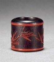 紫檀贴竹簧扳指 -  - 瓷玉工艺品专场 - 2011夏季艺术品拍卖会 -收藏网