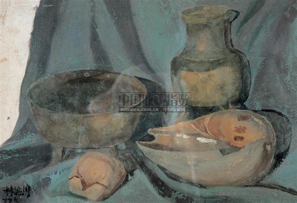 静物 布面油画 - 140412 - 绍晋斋暨立派艺术中心藏中国油画、雕塑、水彩 - 2006冬季艺术品拍卖会 -收藏网