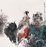 昭君出塞 立轴 设色纸本 - 胡正伟 - 中国当代书画 - 2006冬季拍卖会 -中国收藏网