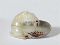 和田青白玉雕马到成功手把件 -  - 君子之风——当代玉石专场 - 2012年首届艺术品拍卖会 -收藏网