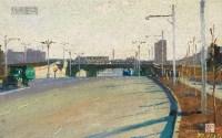 北京市有立交桥的公路 纸本 油彩 - 155561 - 中国油画及雕塑 - 2013年春季拍卖会 -收藏网