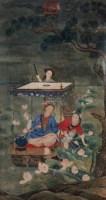 人物 镜片 设色绢本 - 116880 - 中外书画精品 - 2012年《第一拍卖厅》冬季专场拍卖会 -收藏网