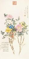 花卉 立轴 纸本 - 140520 - 中国书画 - 2012秋季书画专场拍卖会 -中国收藏网