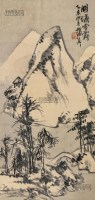 湖塘雪霁 立轴 设色纸本 - 8107 - 中国书画 - 2013春季艺术品拍卖会 -收藏网