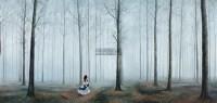追忆之林 NO.2 布面 油画 -  - 中国油画及雕塑 - 2012秋季拍卖会 -收藏网