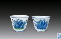 青花粉彩花卉纹杯 -  - 中国瓷器 - 2012年秋季竞买会 -收藏网