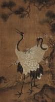 梅鹤 立轴 设色绢本 - 116966 - 中国古代书画 - 2012秋季拍卖会 -收藏网