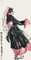 人物 立轴 纸本 - 黄胄 - 书画(一) - 2012秋季艺术品拍卖会 -收藏网