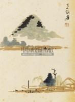 山水 镜心 设色纸本 - 116070 - 中国书画 - 第二期艺术品拍卖会 -收藏网