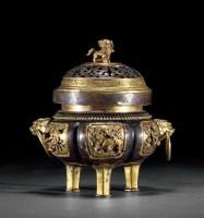 铜鎏金錾花鸟纹熏炉 -  - 古董珍玩 - 2012春季艺术品拍卖会 -中国收藏网