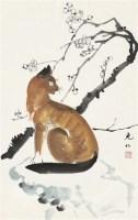 梅花小猫 立轴 - 141100 - 华人西画 - 2012年秋季暨十周年庆大型艺术品拍卖会 -收藏网
