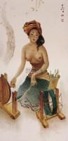 纺线 油彩纤维板 -  - 现代及当代东南亚艺术 - 2013年春季拍卖会 -收藏网