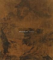 山水 镜心 水墨绢本 -  - 中国书画 - 第二期艺术品拍卖会 -中国收藏网